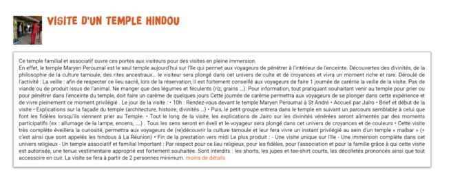 VISITE D'UN TEMPLE HINDOU PAYANT !