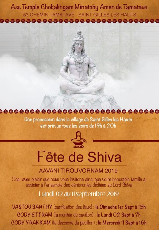 TEMPLE CHOKALINGAM DE TAMATAVE : PROCESSION TOUS LES SOIRS POUR LA FÊTE DE SHIVA