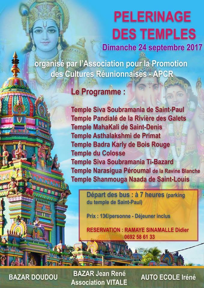 PELERINAGE DES TEMPLES DE L'ÎLE PAR L'ASSOCIATION APCR