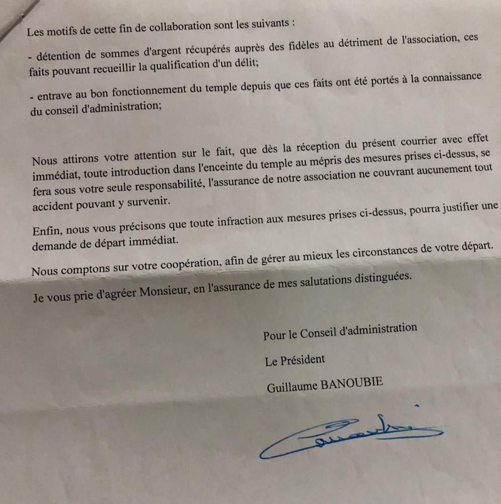 """""""STOP À CE PRÉSIDENT ET SON CONSEIL"""" DU TEMPLE TI-BAZAR, RÉCLAMENT LES FIDÈLES"""