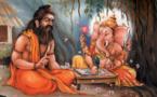 Vyasa racontant l'histoire du Mahabharata à Ganesh