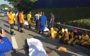 SIX PÉNITENTS DU CAVADEE HEURTÉS PAR UNE VOITURE EN MALAISIE SUCCOMBENT