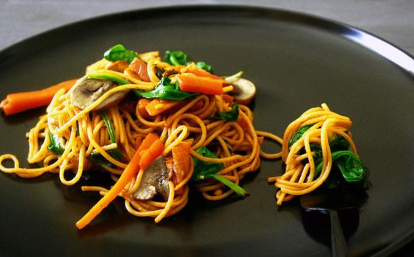 Recette de Lo mein végétarien Nouilles chinoises