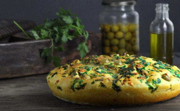 Recette de pain Focaccia garni et moelleux