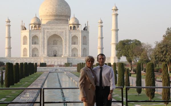 Emmanuel Macron au Taj Mahal, une très médiatique visite « privée »