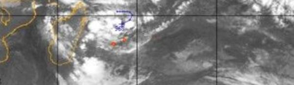 Deux systèmes dépressionnaires à côté de la Réunion