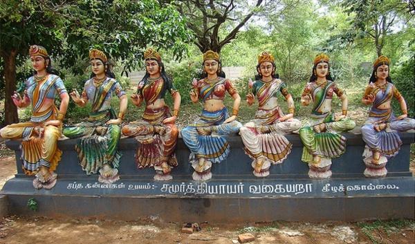 Les Sept Mères, Saptamatrikâs